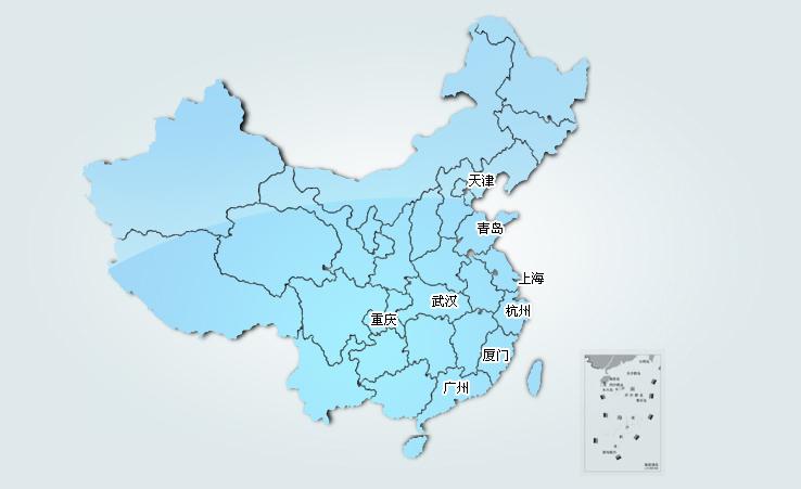 青岛到长兴的火车地图
